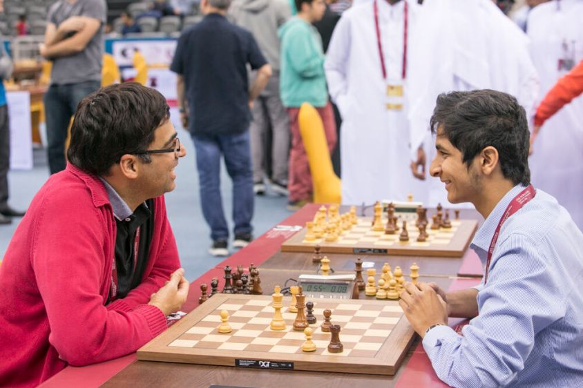 vidit vs anand chess