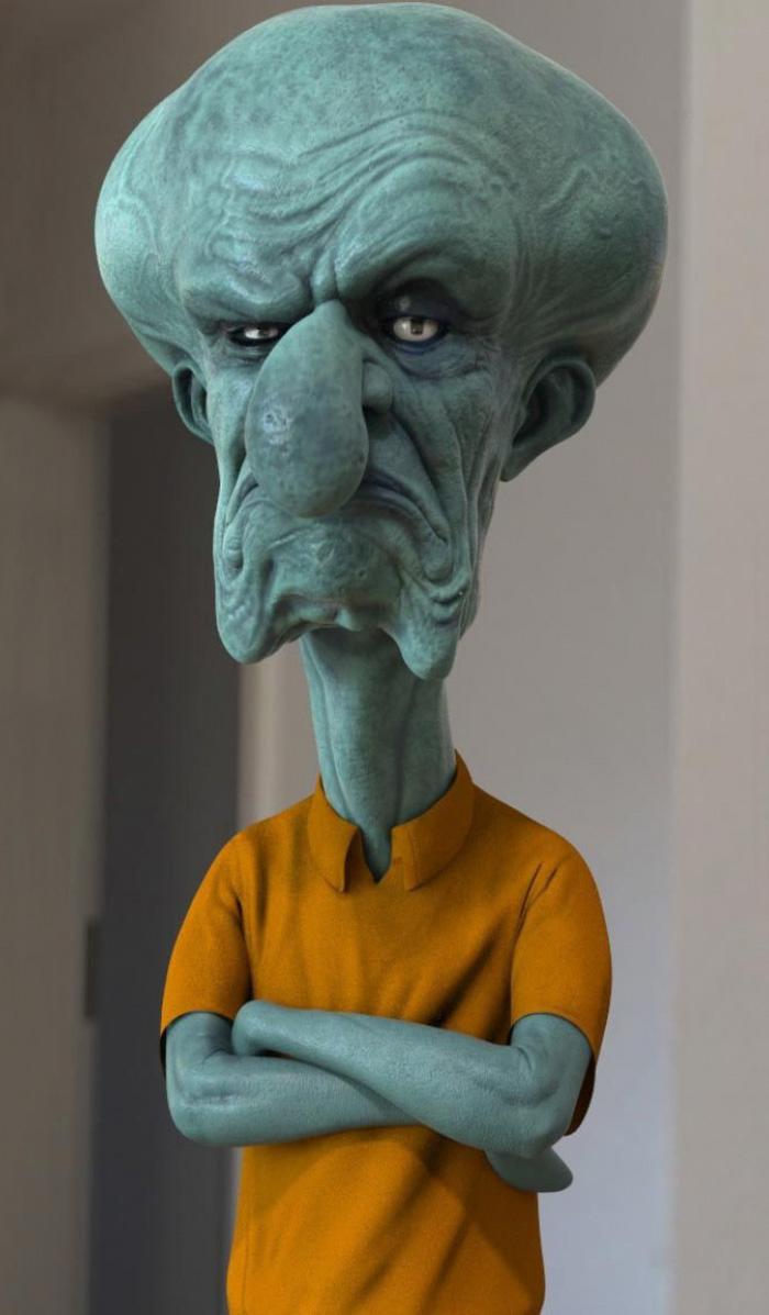 realistic cartoon characters 3d real life 3